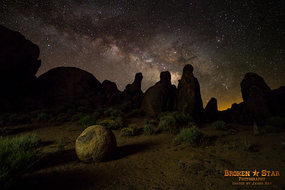 """Bowling Ball & Pins"" with Milky Way behind"