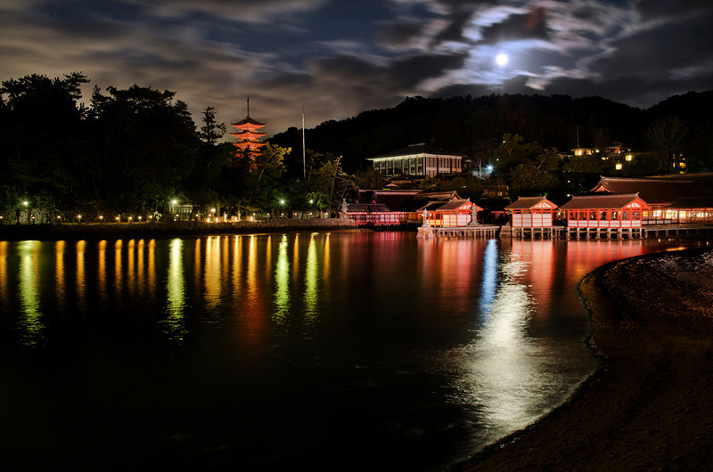Miyajima reflections at sunset