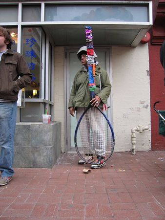 Racket man, Chinatown, Washington DC