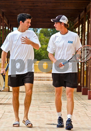 Andy Murray and Tim Henman at La Manga Club, 17th September 2004