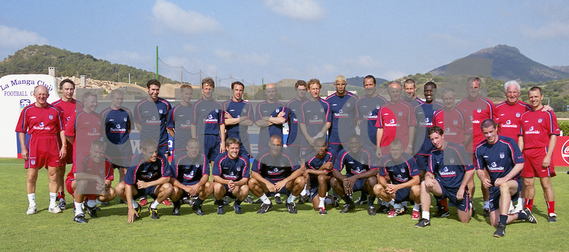 England Football Squad, La Manga Club Football Centre, May 2001