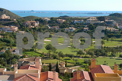 View from El Forestal over La Manga Club's South Course towards the Mar Menor
