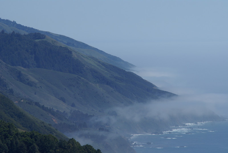 View from Naciemento Drive off Big Sur
