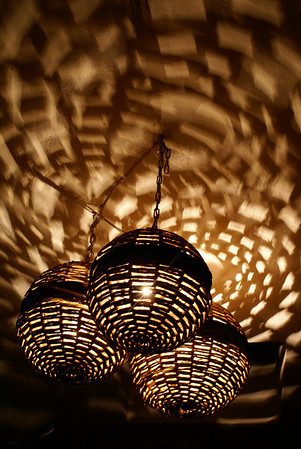Lights in Restaurant, Ajijic, Mexico