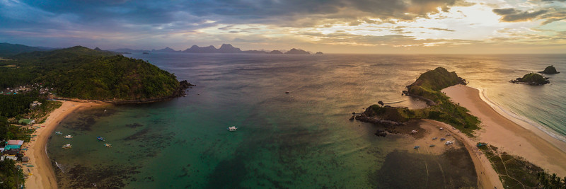 El Nido (aerial) - at Nacpan beach