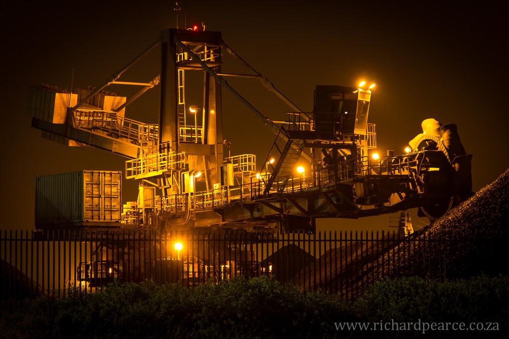 Iron-ore loading in the Port Elizabeth Harbour