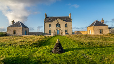 Belmont House on the northern Shetland Island of Unst.  A local trust was formed to restore and run this lovely old Georgian House.  What a treat staying there. On our last day we left from here in rain, took two ferries and drove to the south end of the Island to Sumburgh airport to fly back to Edinburgh. We left with very fond memories of a wonderful part of the world.