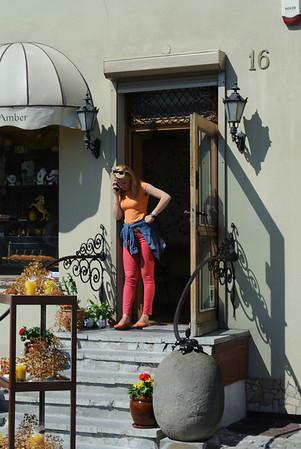 Gdansk: Amber seller, 2013