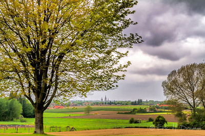View to Ypres from Hill 62 (Sanctuary Wood), Belgium