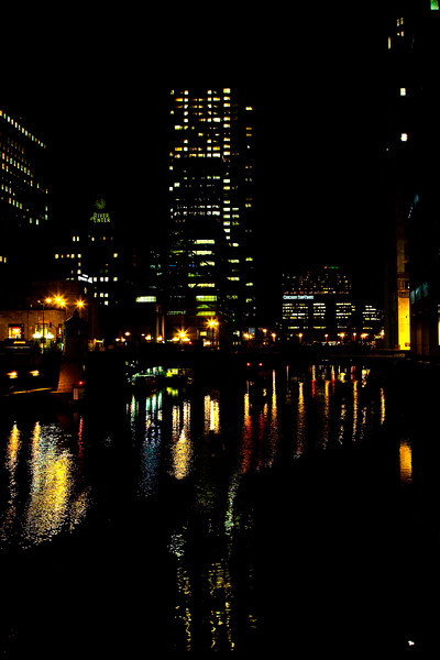 "Chicago At Night #7163<br /> 12"" x 18"" Unmounted Print - $25<br /> Quotes for other sizes, media and mounting or framing upon request. edit"