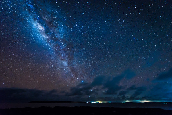 Milky way above Daku island