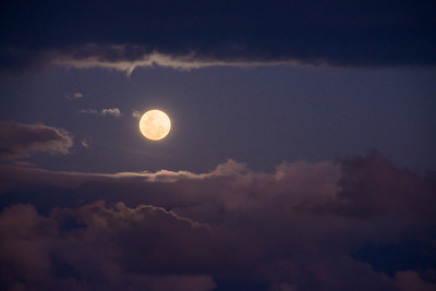 Moonrise in the Clouds