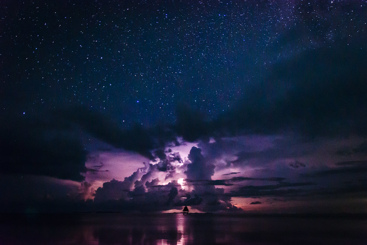 Lightning storm at Dedon Island
