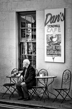 Hanging out at the Stonewall Cafe, Carlingford, County Louth, Ireland