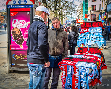 Making a Deal on Derby Day, Manchester, England