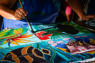 Batik Artist at Work, Barbados