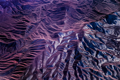 Where the snow starts. View from a plane - North of Semnan, Iran.