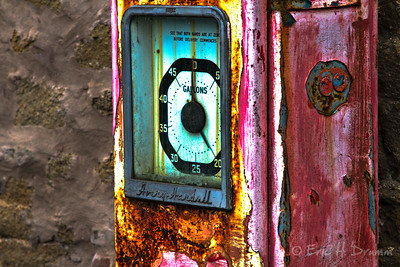 Old Petrol Pump, Melrose, Scotland