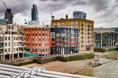 Interesting Architecture along the Thames, London, England