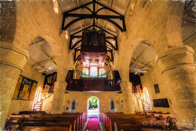 View of Nave to West Door, St. James Parish Church, Holetown, Barbados