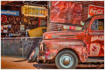 Vintage Truck and Garage, Route 66, Hackberry, Arizona