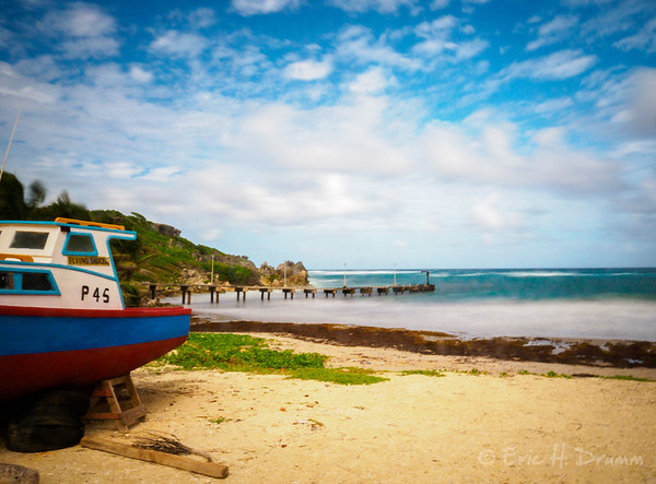 Fishing Boat and Jetty, Skeetes Bay, Barbados