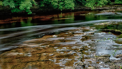 Gently Flowing, River Swale, Richmond, Yorkshire, England
