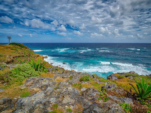 Atlantic at East Point Lighthouse, Barbados
