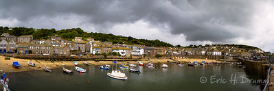 Mousehole Harbour Panorama, Cornwall, England
