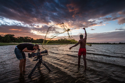 I was filming in Sri Lanka with cameraman Rolf Steinmann... this was just one of the many beautiful Sri Lankan sunsets that we enjoyed. #EarthOnLocation #BBCEarth #SriLanka #Fishing #Sunset #Filming