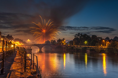 Fireworks over the Severn