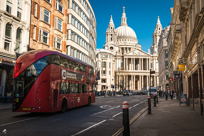 Clear Blue Sky Over London