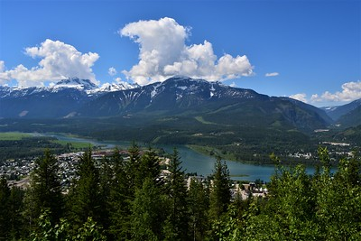 Revelstoke, as seen from viewpoint in Revelstoke National Park.