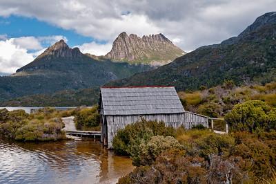 Boat shed, Dove Lake Circuit, Cradle Mountain, Tasmania