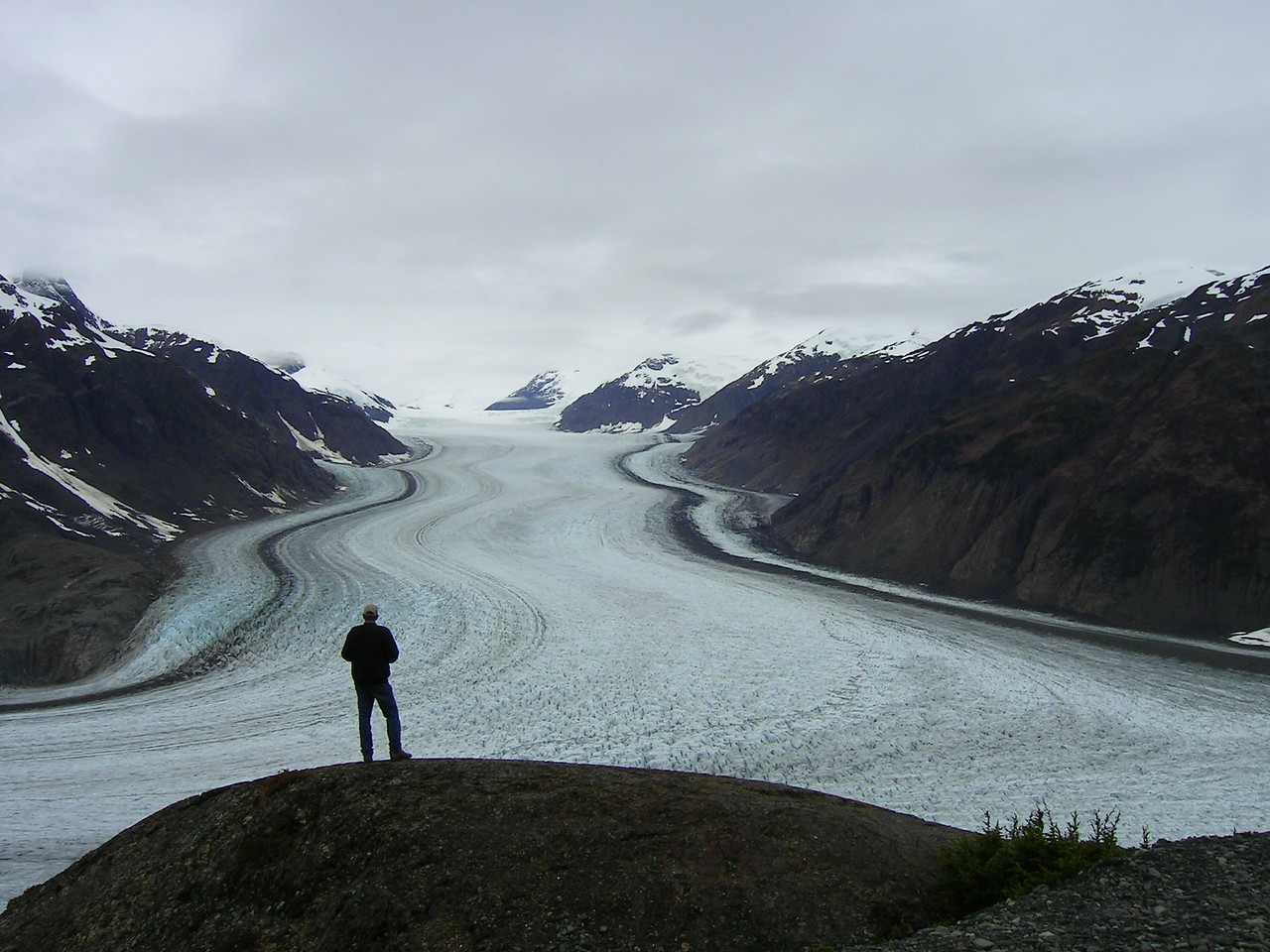 Salmon Glacier,  close to the border between B.C and Alaska.