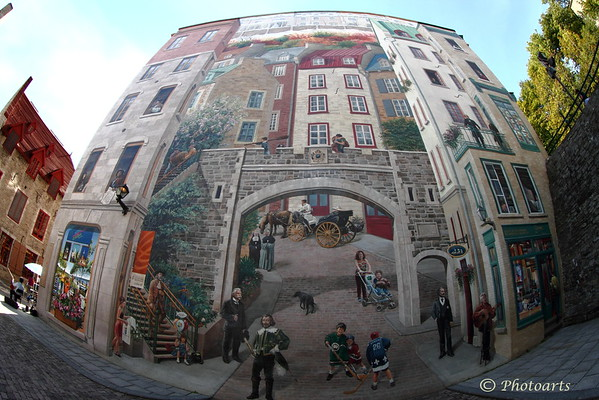 """Quebec City Mural"""