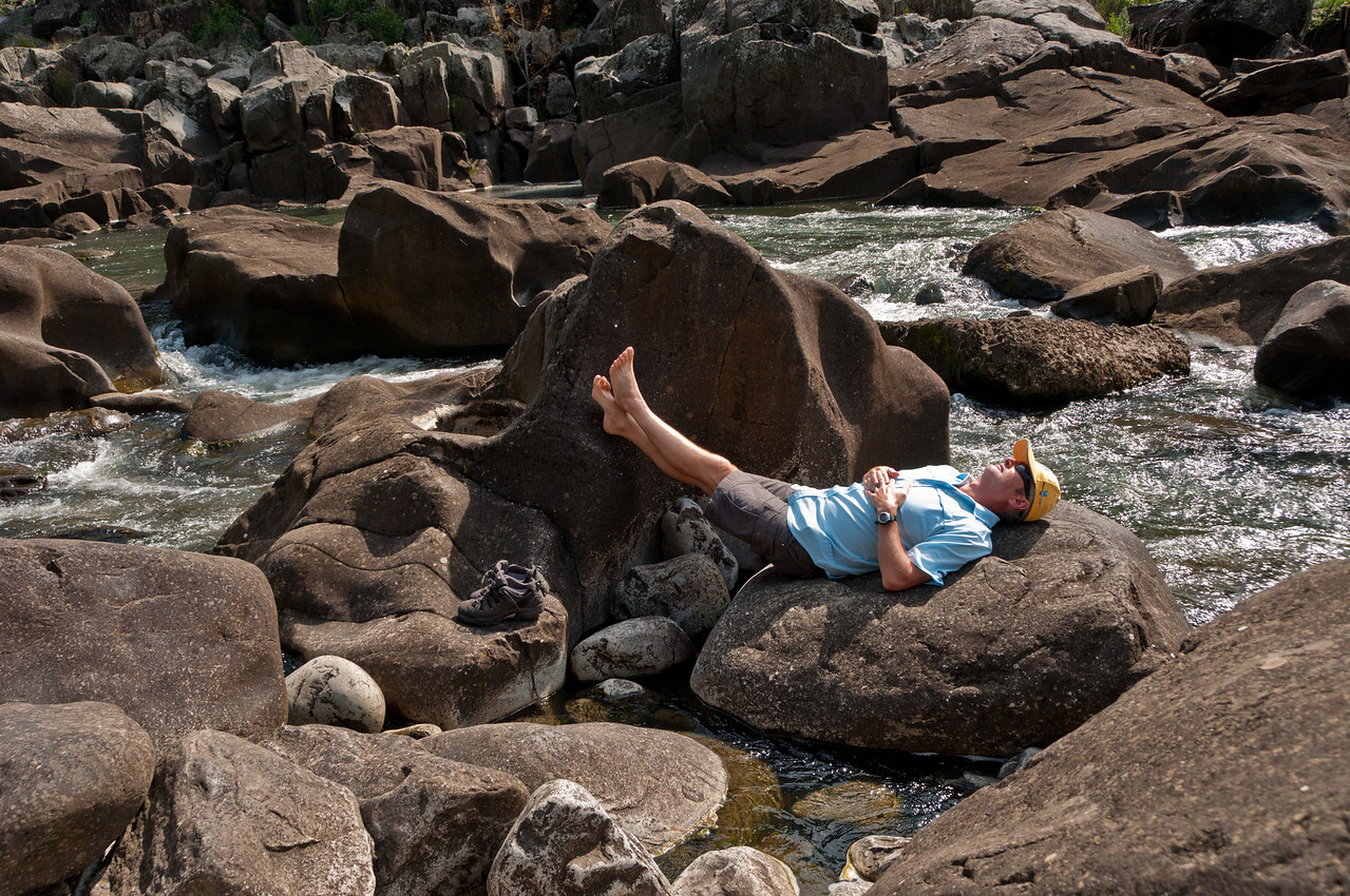 Cataract Gorge, Launceston, Tasmania  A lunch time paddle & siesta on the South Esk River at Duck Reach Power Station.