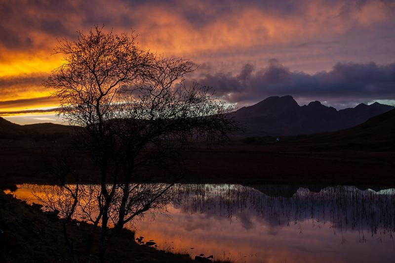Loch Cill Chriosd sunset
