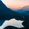 Peyto Lake at sunset