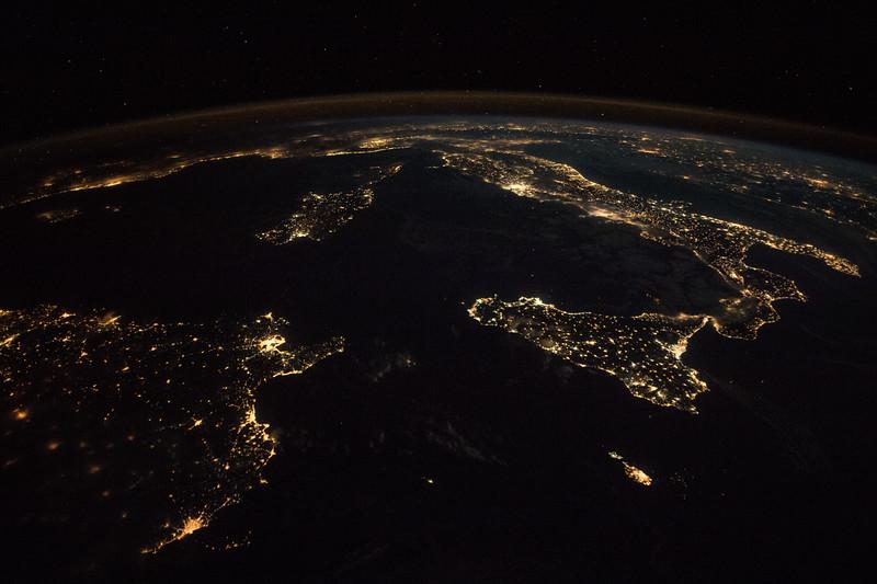 Tunis, Tunisia (left), Sardinia, and Sicily