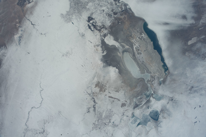 Aral Sea, Asia - an endorheic lake