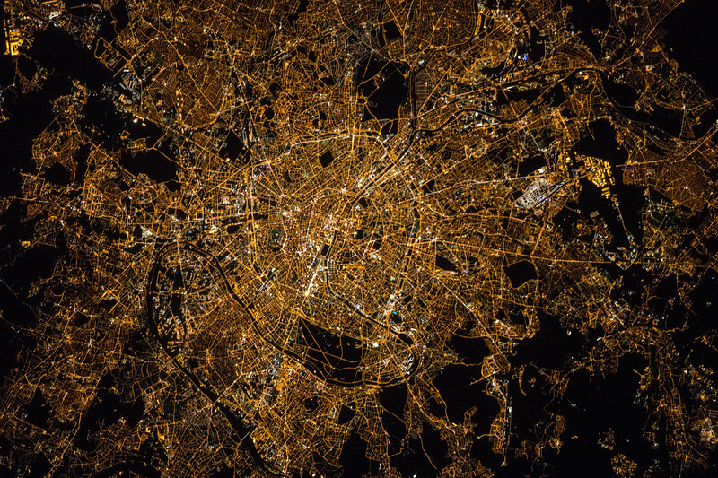 """Capital and largest city of its country, popular tourist destination, home to incredible art museums, the """"City of Lights."""" ISS over Europe. (ANSWER: Paris, France)"""
