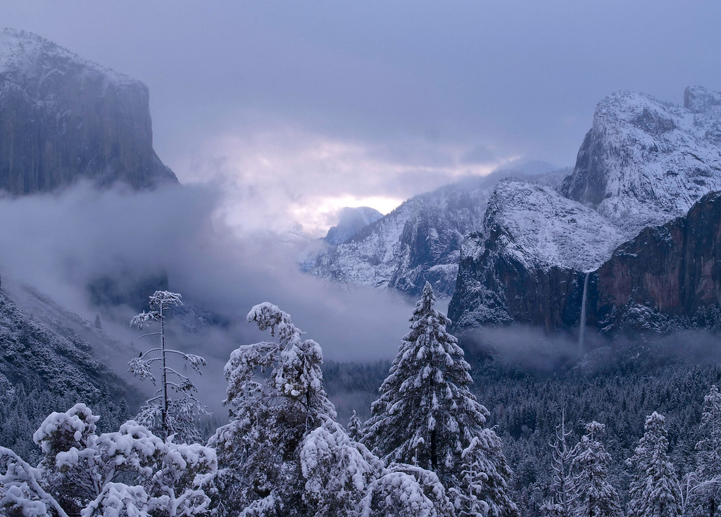 Snowy Tunnel View Dawn