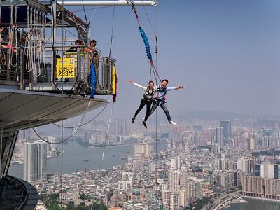 Skyjump at the AJ Hackett Macau Tower