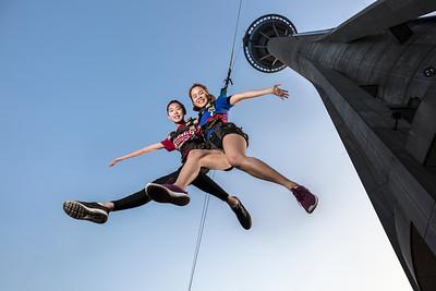 Skyjump activity at AJ Hackett Macau Tower