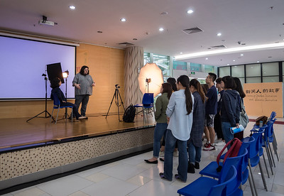 Jonathan Castillo lectures at United International College in Zhuhai, China.