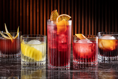 Negroni set at Voyages by Alain Ducasse restaurant bar at Morpheus Macau.