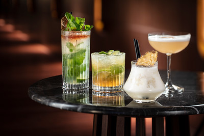 South America drink set at Voyages by Alain Ducasse restaurant bar at Morpheus Macau.