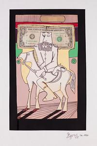"""The Soldier"" by Angelo Barreto - ""Collage y Lapicero sobre papel"""
