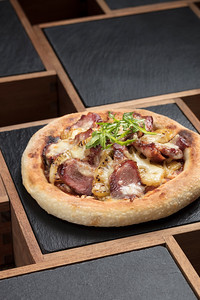 Pizza at the Golden Pavilion restaurant in the City of Dreams resort in Macau, China.